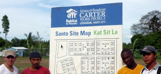 Reconstruccion en Haiti - Leogane - Jimmy Rossalynn Carter - EcoSur