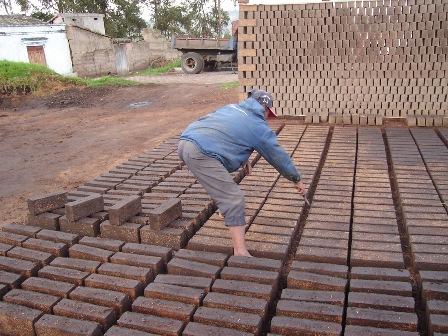 Fired Clay Bricks in Chambo, Ecuador